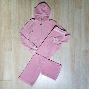 Juicy Couture Tracksuit S Pants M Hoodie Velour